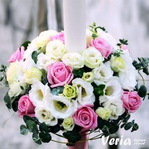 Lumanare Trandafiri Roz